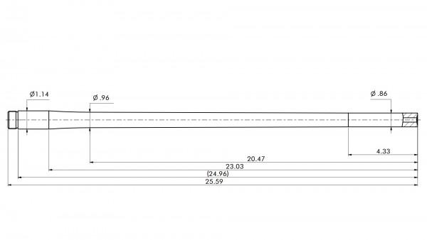 "Match Barrel   .222Rem   MuD:.866""   L:25.59""   STAINLESS"