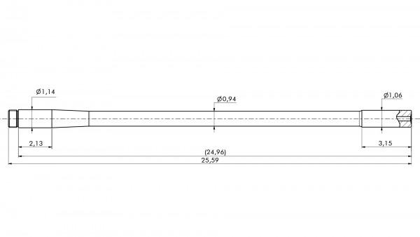 "Match Barrel | .222Rem | MuD:1.063"" | L:25.59"" | STAINLESS"